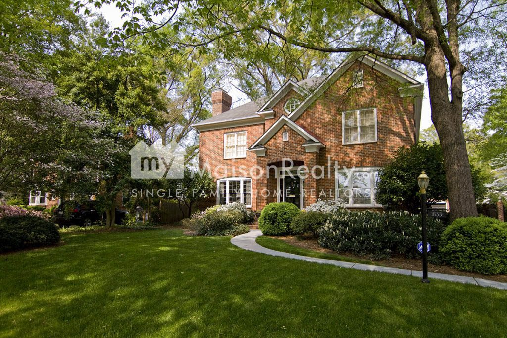Brick traditional architecture in Myers Park
